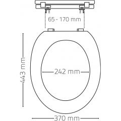 Ridder 02101175 MIAMI WC sedátko, soft close, PP termoplast - zelená
