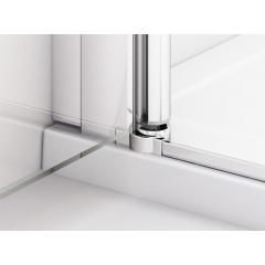 SanSwiss SL32 1200 50 44 Dvoukřídlé dveře s pevnou stěnou v rovině, aluchrom/cristal perly