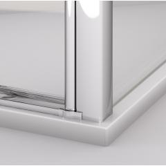 SanSwiss SL1 0900 50 07 Sprchové dveře jednokřídlé 90 cm, aluchrom/sklo