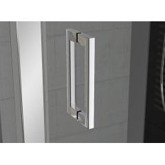 SanSwiss TED 1000 50 22 Jednokřídlé dveře s pevnou stěnou v rovině 100 cm, aluchrom/durlux