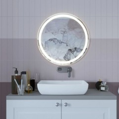 Kulaté LED zrcadlo LUMO 80cm