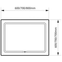 LED zrcadlo MARAMA 70x70cm