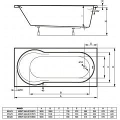Akrylátová vana MANDI 160x75cm