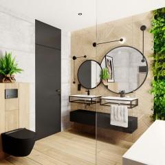 Kulaté zrcadlo VALO Slim 90cm,černé