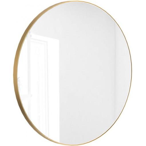 Kulaté zrcadlo VALO Slim 100cm,zlatá matná