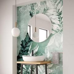 Kulaté zrcadlo VALO Slim 100cm,bílá