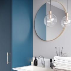 Kulaté zrcadlo VALO Slim 90cm,zlatá matná