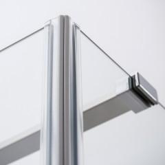 Jednokřídlé sprchové dveře OBDNL(P)1 s pevnou stěnou OBDB Čtvercový sprchový kout pravými dveřmi 800x800 OBDNP1-80_OBDB-80