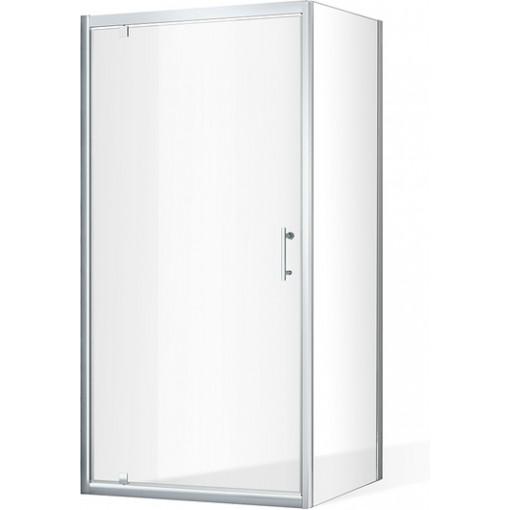 Otevírací jednokřídlé sprchové dveře OBDO1 s pevnou stěnou OBB Obdélníkový sprchový kout 1000x900 mm OBDO1-100_OBB-90