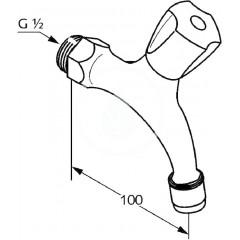 Kludi Výtokový ventil, chrom 300150515