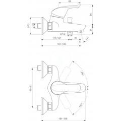 Ideal Standard Vanová baterie, chrom B3697AA