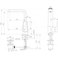 Ideal Standard Umyvadlová baterie s výpustí, chrom A6043AA