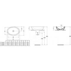 Ideal Standard Umyvadlo 600x420x160 mm, bílá K078401