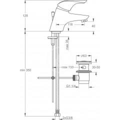 Ideal Standard Umyvadlová baterie s výpustí, chrom B3689AA
