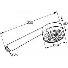 Kludi Sprchová hlavice 84 mm, 3 proudy, chrom 6080005-00