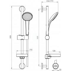 Ideal Standard Sprchová souprava 100, 1 proud, chrom B9412AA