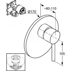 Kludi Sprchová baterie pod omítku, chrom 386550576