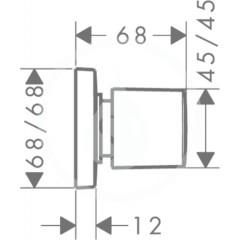 Hansgrohe Uzavírací ventil pod omítku, bílá/chrom 15978400