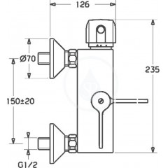 Hansa Termostatická sprchová nástěnná baterie, chrom 08240202