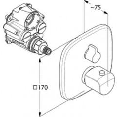 Kludi Termostatická vanová baterie pod omítku, chrom 418300575