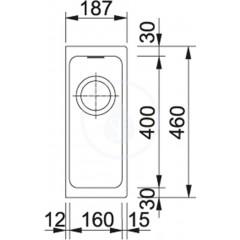 Franke Fragranitový dřez KBG 110-16, 187x460 mm, kašmír 125.0478.118