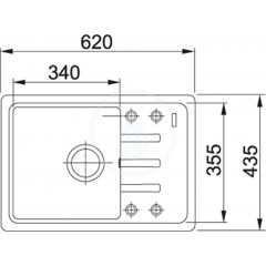 Franke Fragranitový dřez BSG 611-62, 620x435 mm, kašmír 114.0494.783