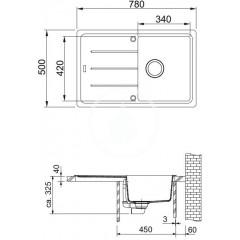 Franke Fragranitový dřez BFG 611-78, 780x500 mm, kašmír 114.0494.757