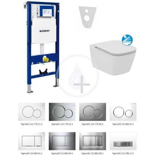 Geberit Sada pro závěsné WC + klozet a sedátko softclose Ideal Standard Mia - sada s tlačítkem Sigma01, chrom 111.300.00.5 NG2