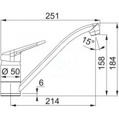 Franke Kuchyňský set G89, granitový dřez STG 614-78, grafit + baterie FC 9541, grafit 114.0365.958