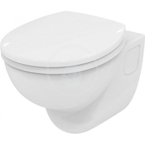 Ideal Standard Závěsný klozet s hlubokým splachováním 360 x 365 x 520 mm RIMLESS (bez splachovacího kruhu), bílá s Ideal plus S3070MA