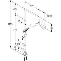 Kludi Dual Shower System, sprchová souprava, chrom 6709305-00