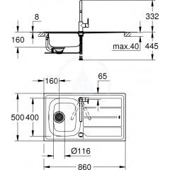 Grohe Set dřezu K200 a baterie BauEdge 31562SD0