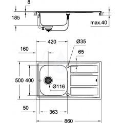 Grohe Set dřezu K400 a baterie Concetto 31570SD0