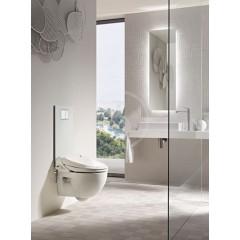 Geberit Krycí deska se zabudovaným ovládáním pro kompletní WC, sklo/bílá 115.328.SI.1