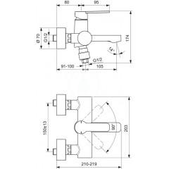 Ideal Standard Vanová baterie, chrom B0621AA