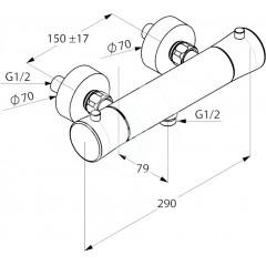 Kludi Termostatická sprchová baterie, chrom 352500575