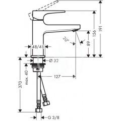 Hansgrohe Stojánkový ventil 100 bez odtokové soupravy pro umývátko, chrom 32501000