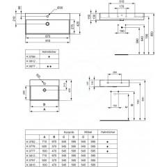 Ideal Standard Umyvadlo 710x420x145 mm, bílá K081301