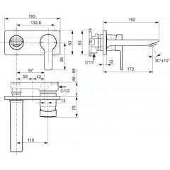 Ideal Standard Umyvadlová baterie pod omítku, chrom A6107AA