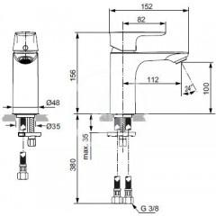 Ideal Standard Umyvadlová baterie, chrom A7024AA
