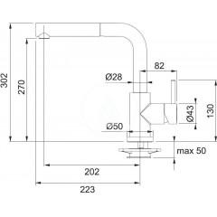 Franke Kuchyňský set T44, tectonitový dřez OID 651, vulcan + baterie FN 0147.031 114.0441.226