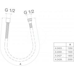 Ideal Standard Sprchová hadice Metallflex 1,5 m, chrom A2400AA