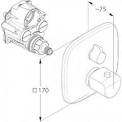 Kludi Termostatická sprchová baterie pod omítku, chrom 418350575