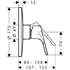Hansgrohe Sprchová baterie HighFlow pod omítku, chrom 31964000