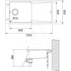 Franke Fragranitový dřez FXG 611-100, 1000x500 mm, onyx 114.0540.816