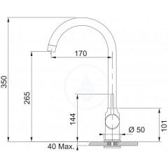 Franke Dřezová baterie FP 9000.099, grafit 115.0298.094