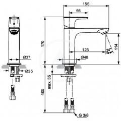 Ideal Standard Umyvadlová baterie Grande Slim, chrom A7015AA