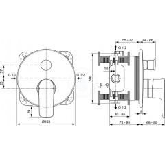 Ideal Standard Vanová podomítková baterie, chrom A7035AA