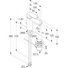 Kludi Umyvadlová baterie s výpustí, chrom 402900575