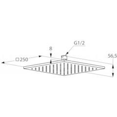 Kludi Horní sprcha, 250x250 mm, bílá/chrom 6442591-00